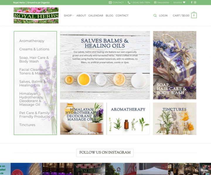 Royal Herbs Homepage