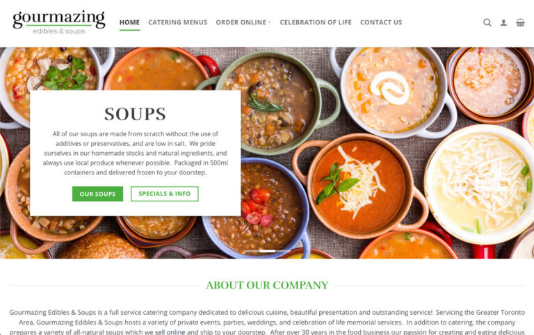 Gourmazing Edibles Homepage