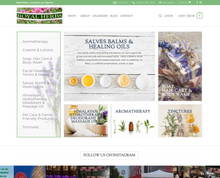 Royal Herbs Homepage